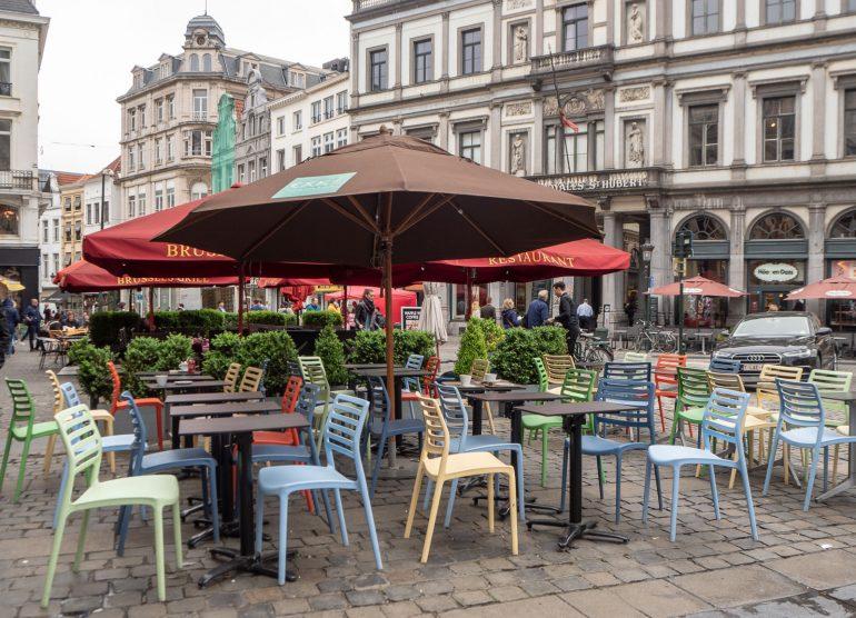 Bryssel katukahvila Muistoja Brysselistä