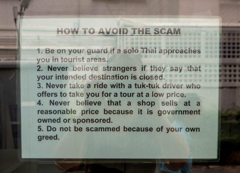 Bangkok Tourist Scams