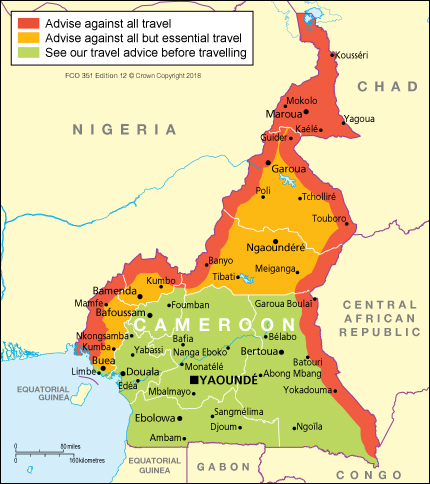 Kamerun kartta