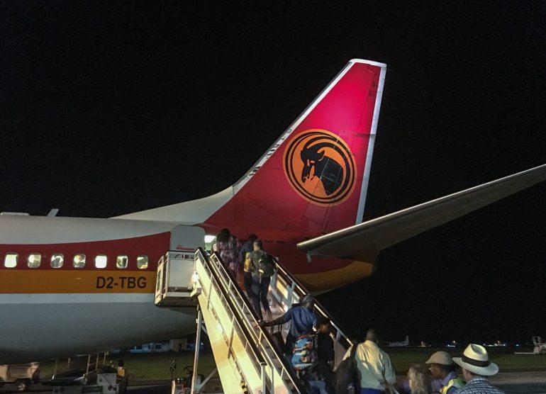 TAGin lento Luandaan