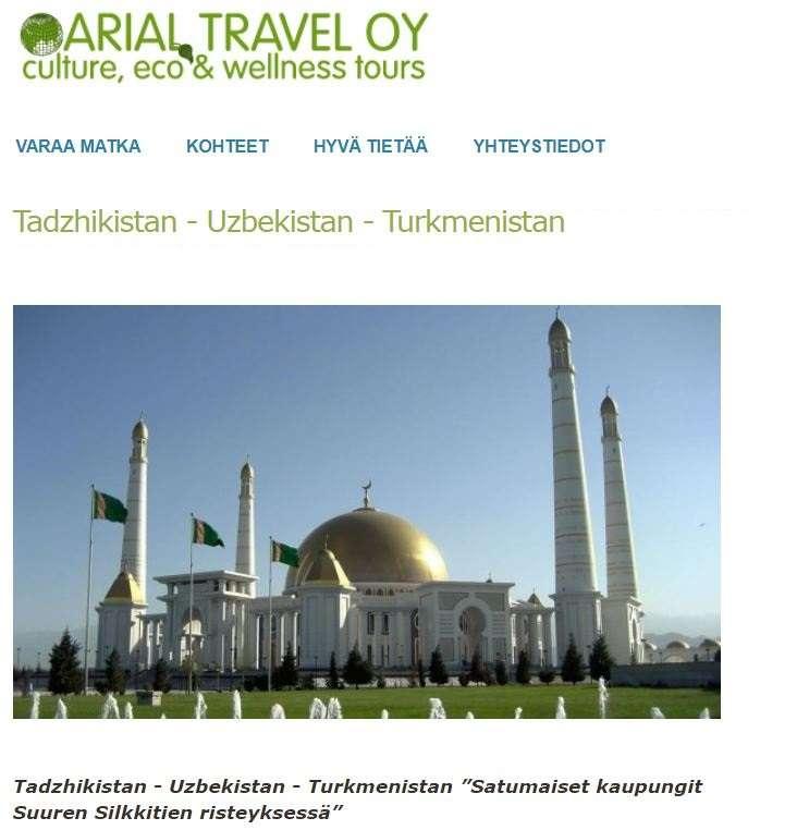 Keski-Aasia Arial Travel