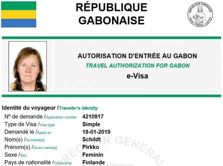 gabonin viisumi