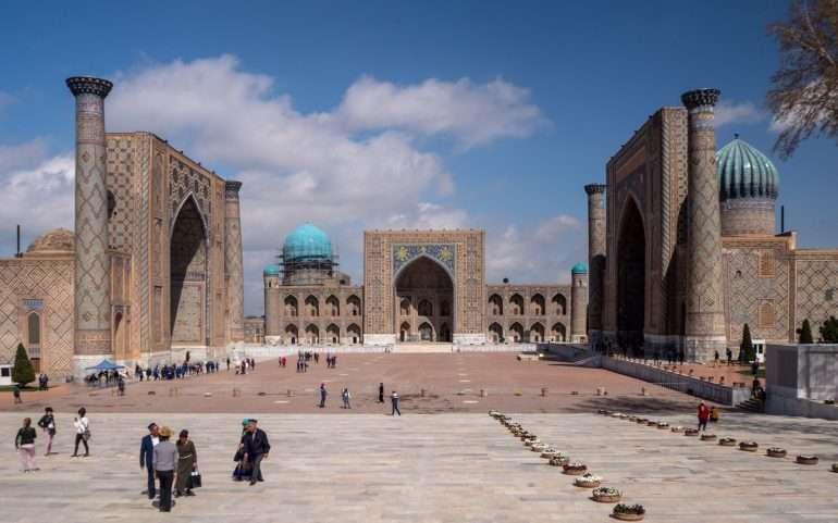 Registan-aukio Samarkand