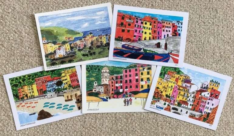 Cinque Terre postikortit Cinque Terre kustannukset