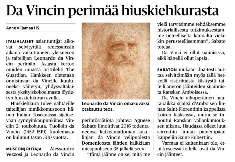 HS Vinci ja Leonardon hiuskiekura