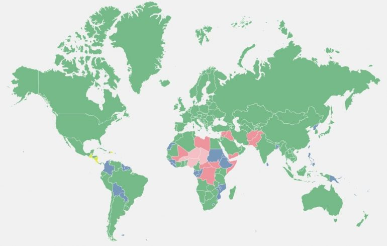 Käydyt maat kartta kuva - Puolen vuoden yhteenveto