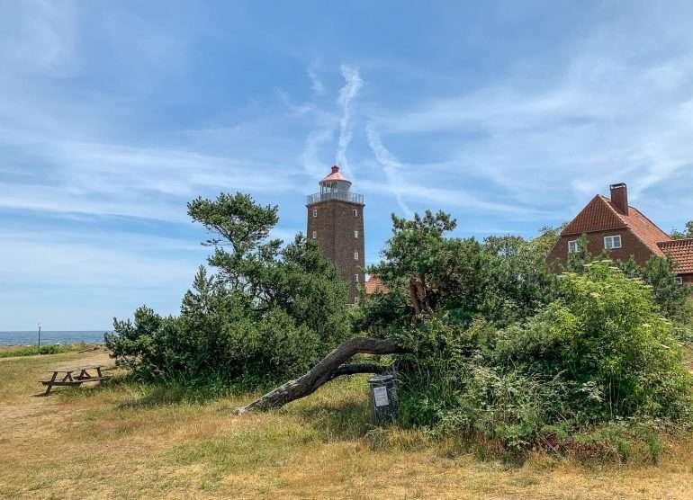 Svaneke Lighthouse Bornholm kirkot ja majakat