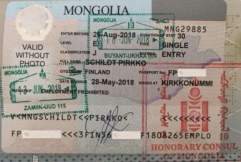 Mongolian viisumi 2018