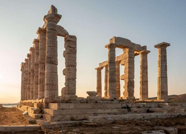 Temple of Poseidon Cape Sounion ja Poseidonin temppeli