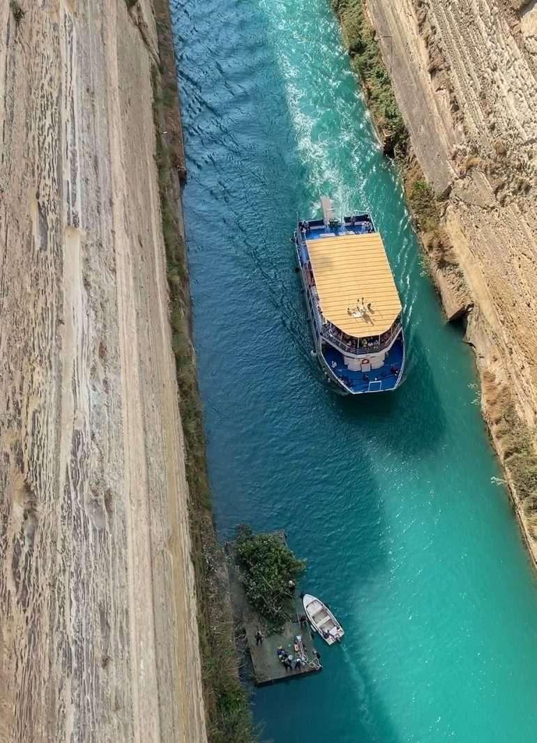 Korintin kanava Peloponnesos Korintti Epidauros Mykene