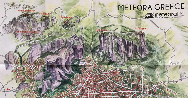 Meteoran kartta