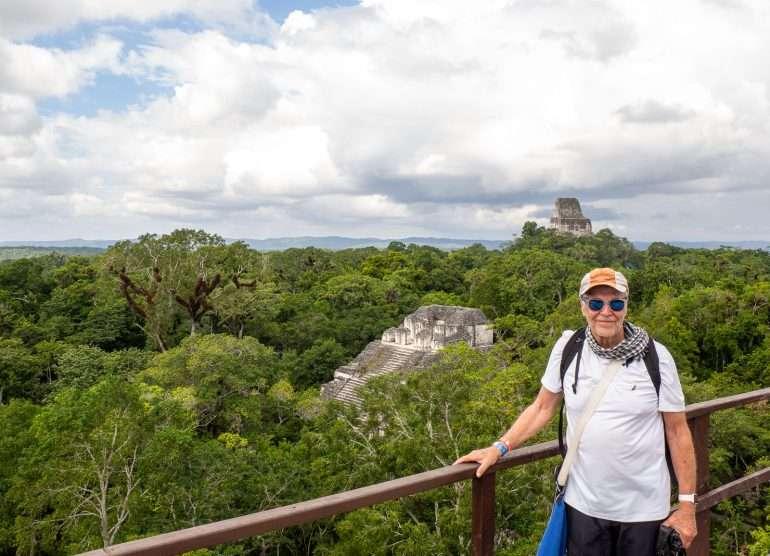 Temple V Tikalin mayaraunioilla