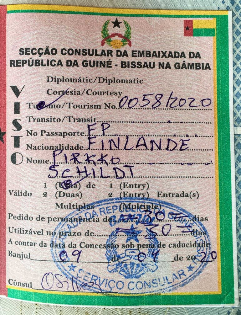 Guinea-Bissau viisumi