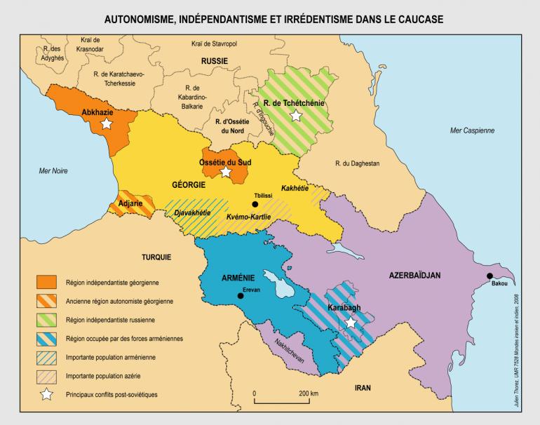 kaukasuksen alueet