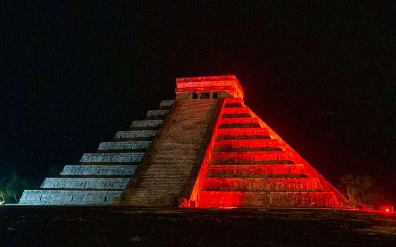 Chichen Itza Light Show