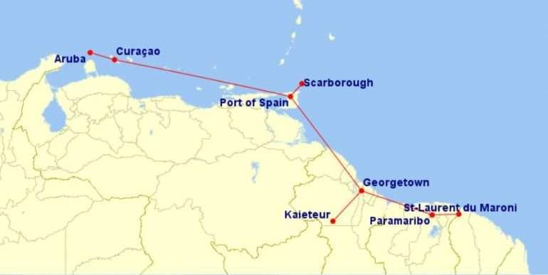 Lennot Etelä-Amerikka ja Karibia
