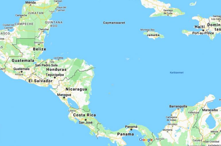 Panamasta Meksikoon