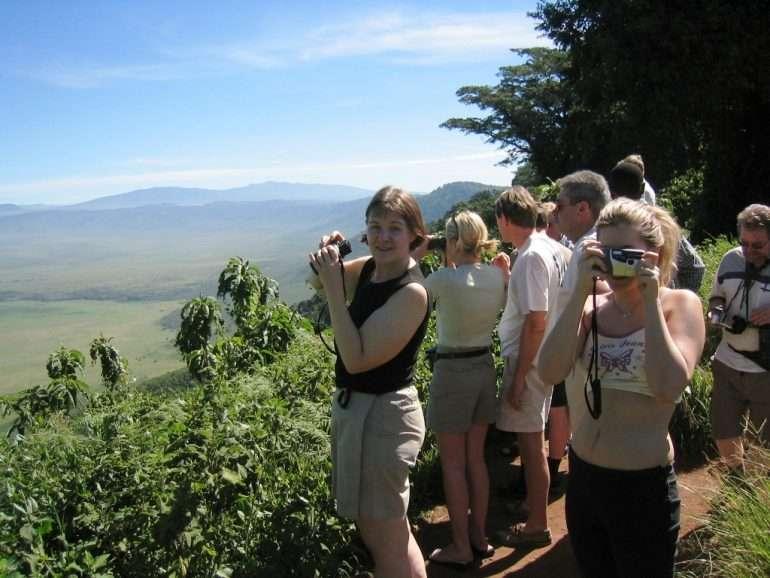 Ngorongoron laidalla