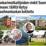 Konkarimatkailijoiden vinkit Suomi-lomaan