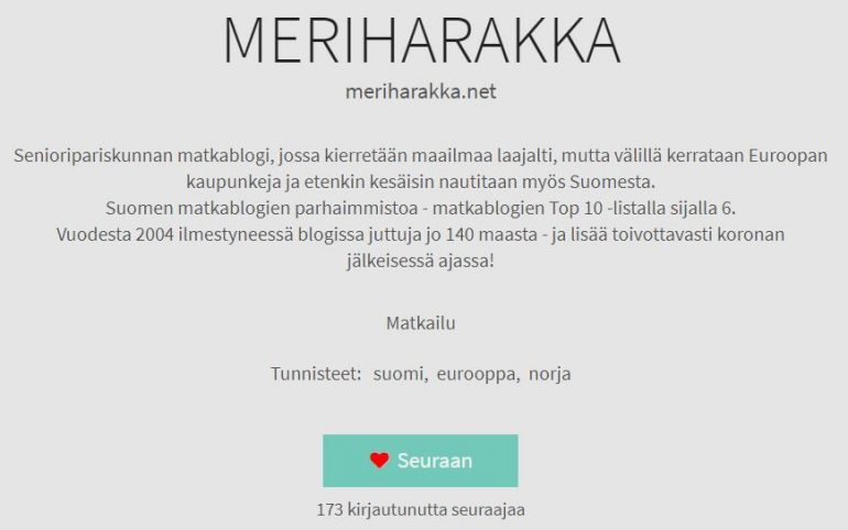 meriharakka blogit