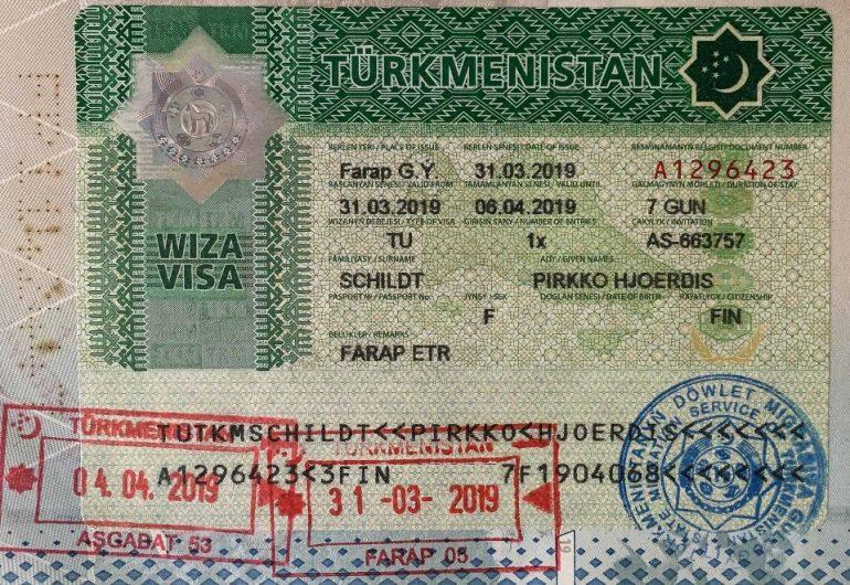 Turkmenistan viisumi