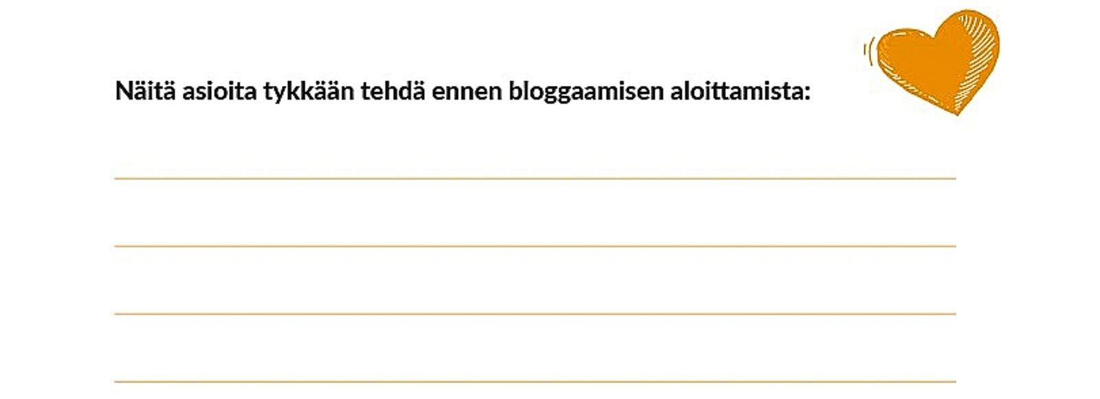 Bloggaajan työkirja