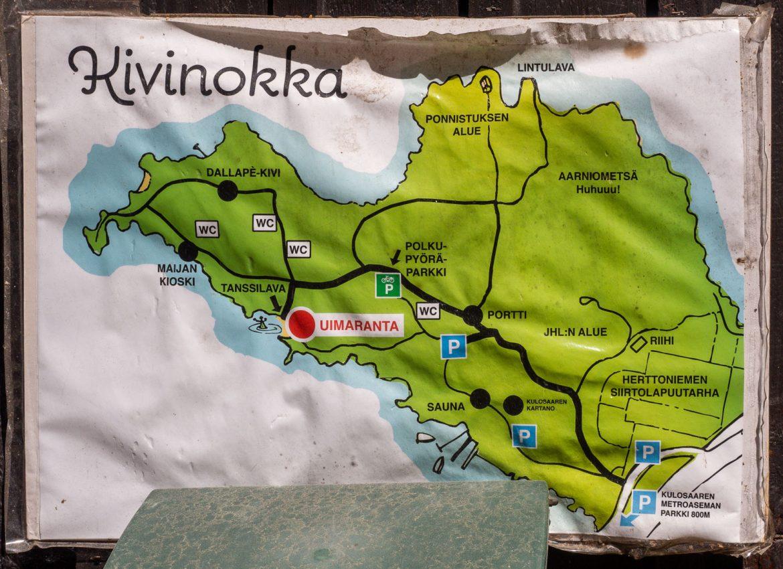Kivinokan alue kartta