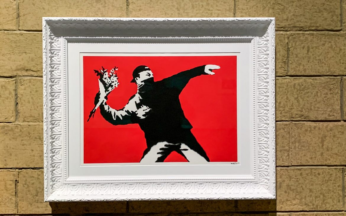 Love is in the air Banksy. A Visual Protest