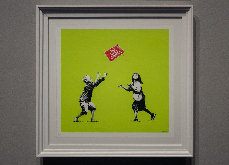 No Ball Games Banksy. A Visual Protest