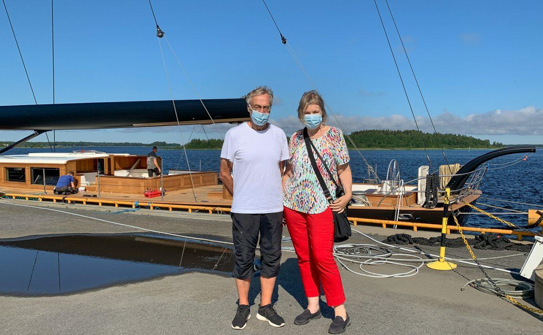 Yritysvierailulla Baltic Yachtsissa