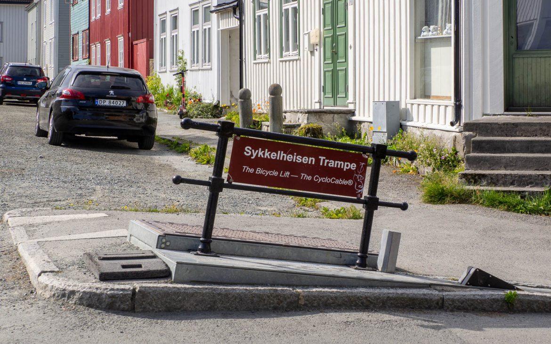 Bakklandet Trondheim pyörähissi